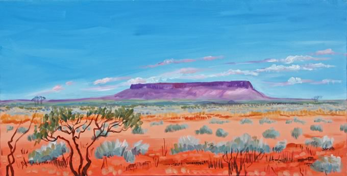 Mount Conner Australia painting